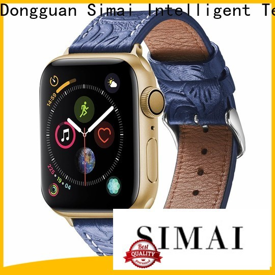 Simai restoring wide leather cuff wrist watch band supply for Huawei