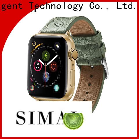 Simai retro mens black leather cuff watch supply for cacio