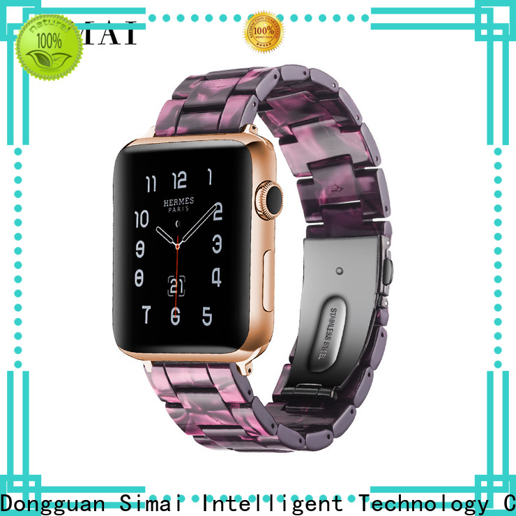 Simai pink cheap watch bands company for apple