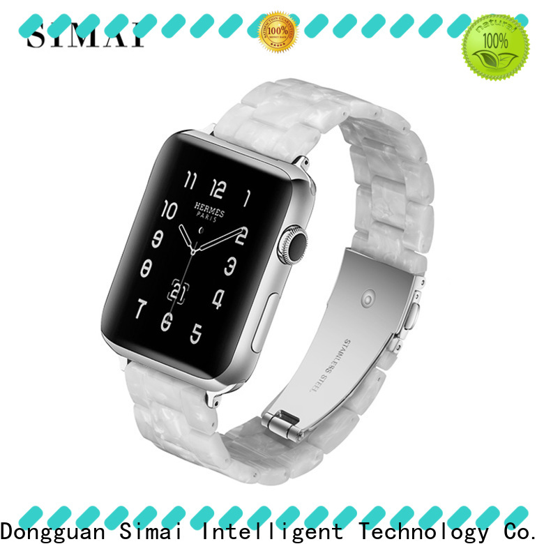 Simai print apple watch series 2 straps factory for Samsung
