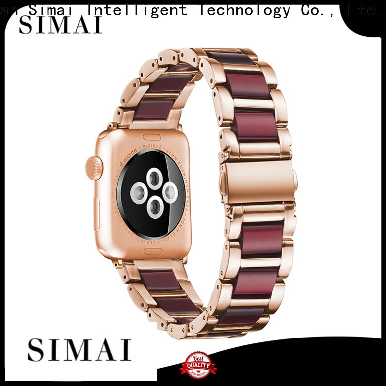 Simai Custom resin steel watch strap suppliers for iwath