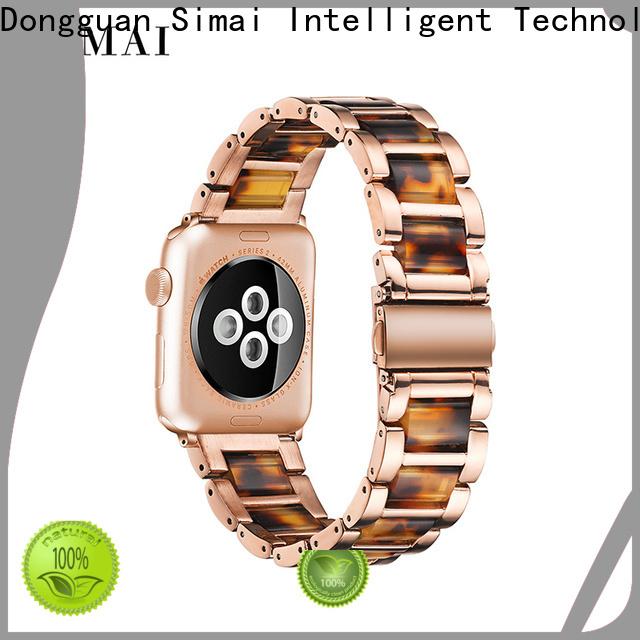Simai black resin steel watch strap supply for cacio