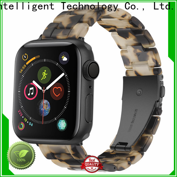 Custom black resin watch strap dark manufacturers for Huawei