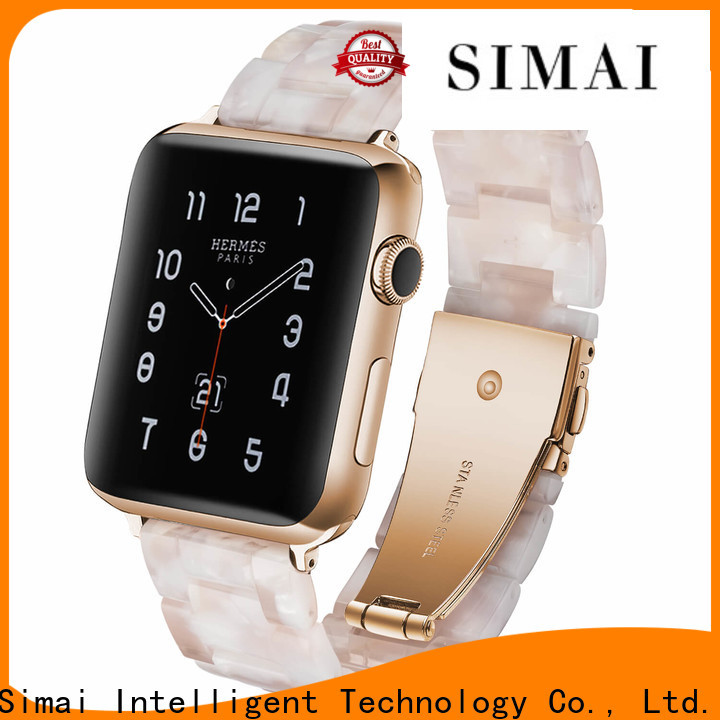 Simai tang stainless steel watch band replacement company for apple