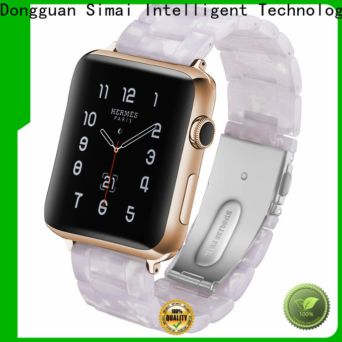 Simai Custom black watch brown strap suppliers for Samsung