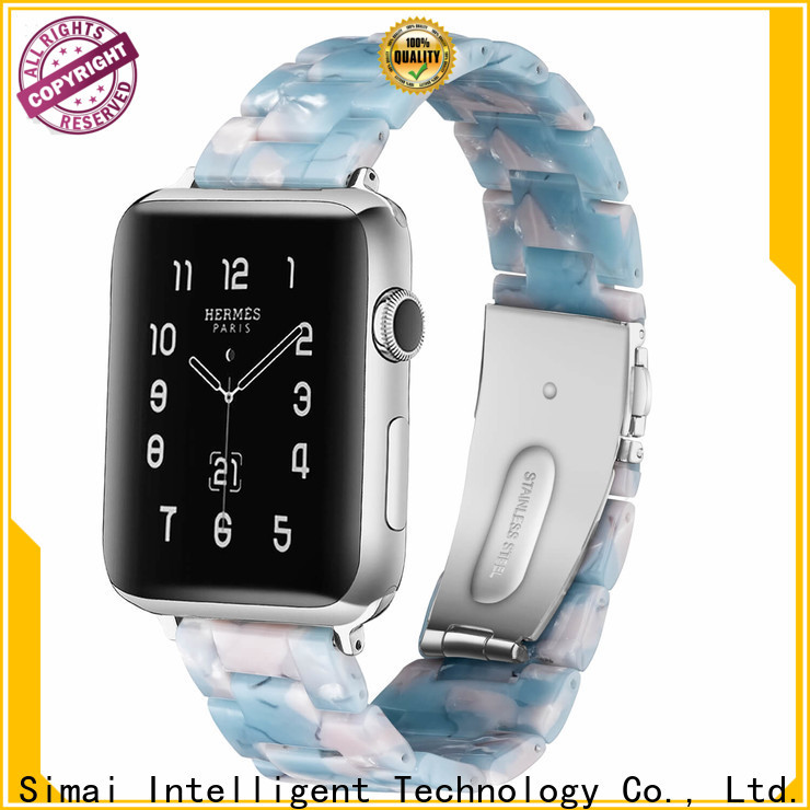 Custom gold iwatch band stone factory for apple