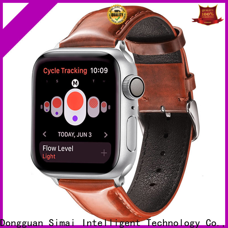 Custom saddle leather watch strap red suppliers for cacio