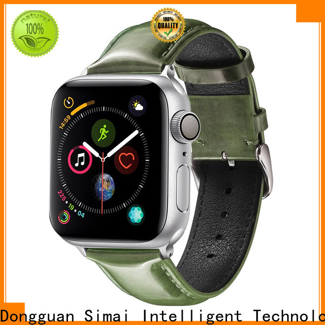 Simai New soft leather watch band for business for Samsung