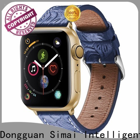 Latest wide leather cuff watch strap green suppliers for apple
