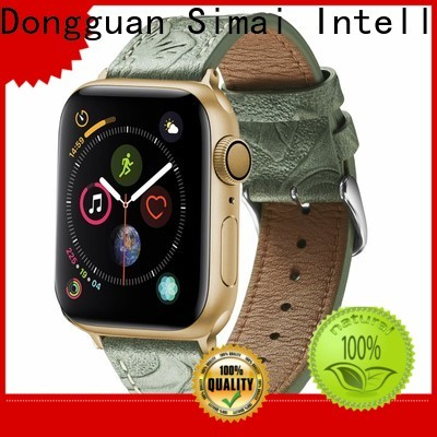 Simai orange mens cuff watch strap factory for apple