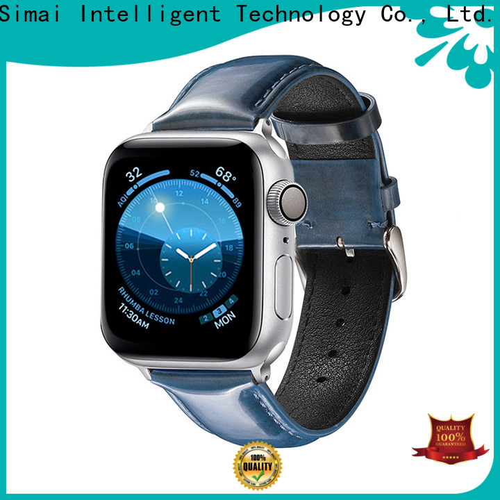 Simai huawei soft leather watch band manufacturers for Huawei