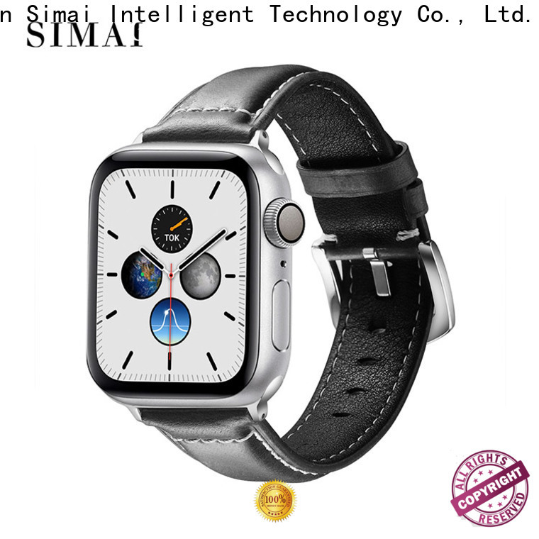 Simai leather awesome apple watch bands company for Huawei