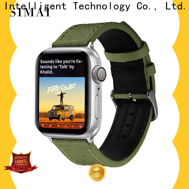 Simai strap 20mm canvas watch strap factory for iwath
