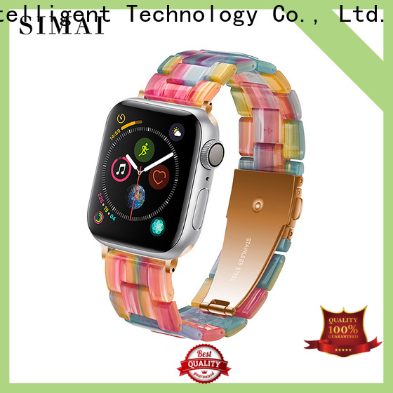 Simai resin apple watch bands for sport model suppliers for Huawei