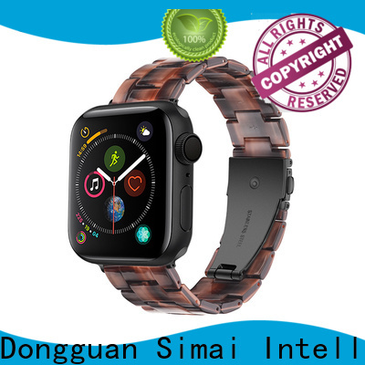 Simai light mens leather watch bands factory for apple