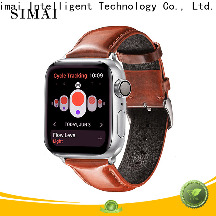 Simai Custom gents leather watch straps for business for Samsung