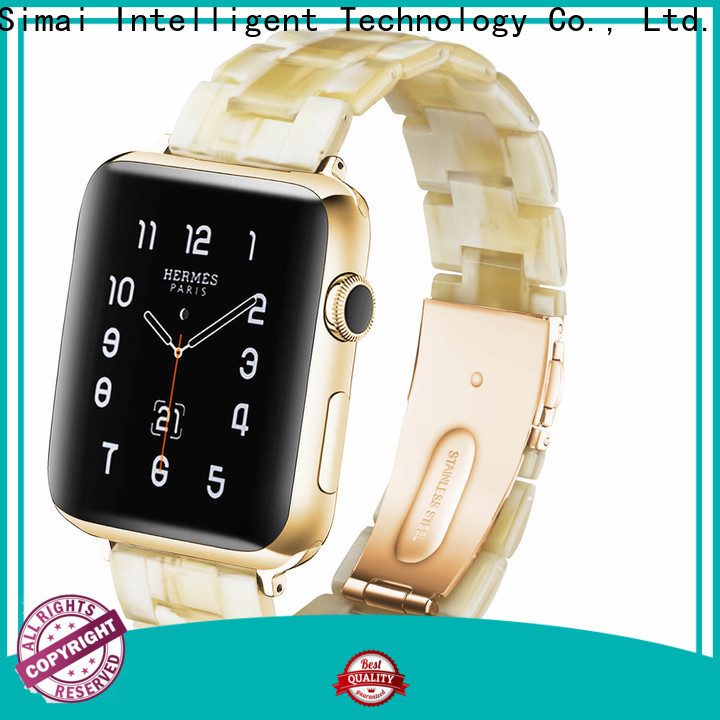 Simai water gold iwatch band company for cacio