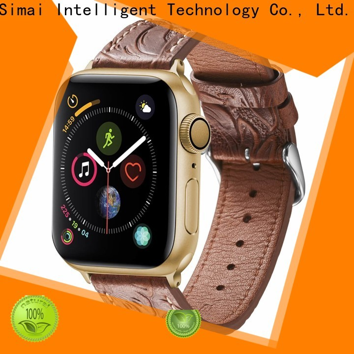 Simai Top leather wrist cuff watch straps company for Huawei