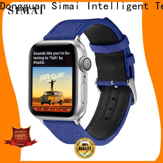 Simai army canvas watch bands for business for iwath