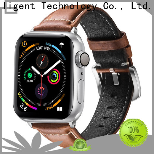 New 18mm mens watch band leather for business for Huawei
