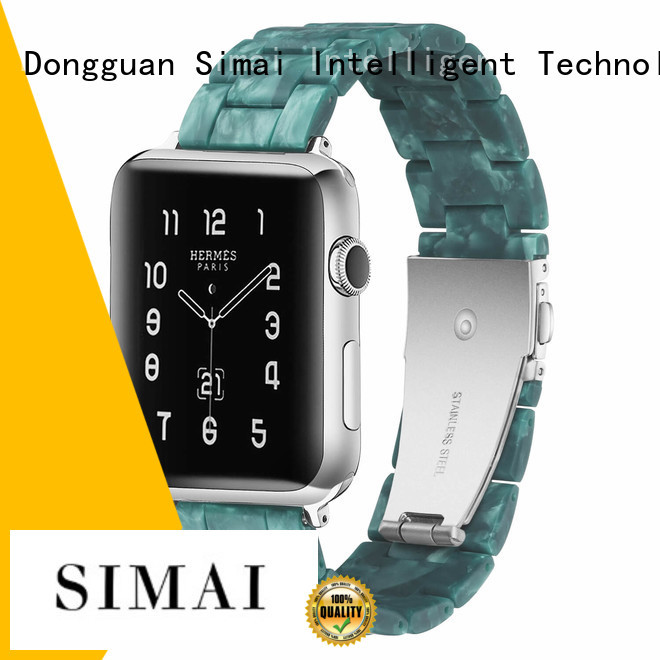 Simai rated black stainless apple watch band supply for cacio