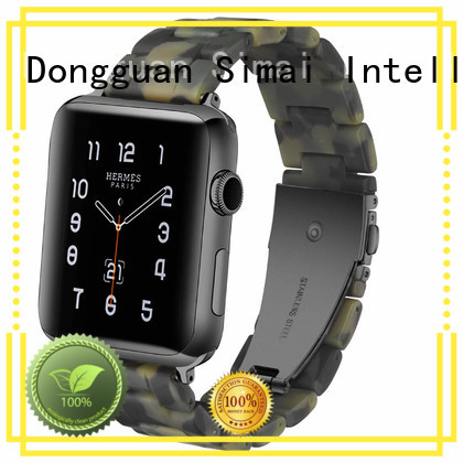 Simai green 22mm metal watch strap factory for apple