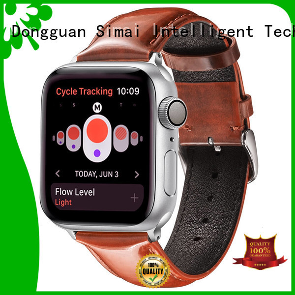 Simai Custom leather watch band manufacturer supply for Samsung