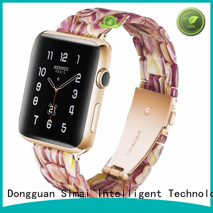 Simai white apple watch gold strap for business for Huawei