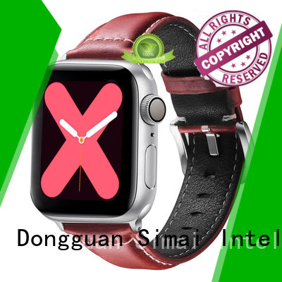 Simai bands distressed leather strap 20mm factory for apple